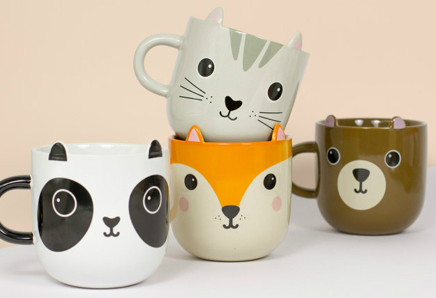 Kawaii Animal Mugs