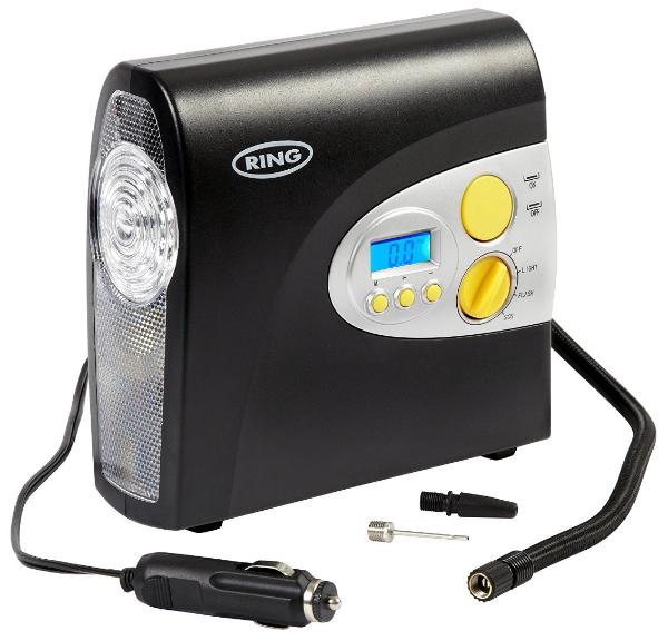ring rac600 12v digital tyre inflator with storage bag and. Black Bedroom Furniture Sets. Home Design Ideas